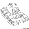 How to Draw Light Tank, A-20, Tanks