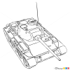 How to Draw Medium Tank, T-44, Tanks