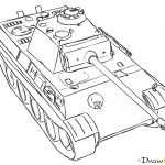 How to Draw Medium Tank, Panter, Tanks