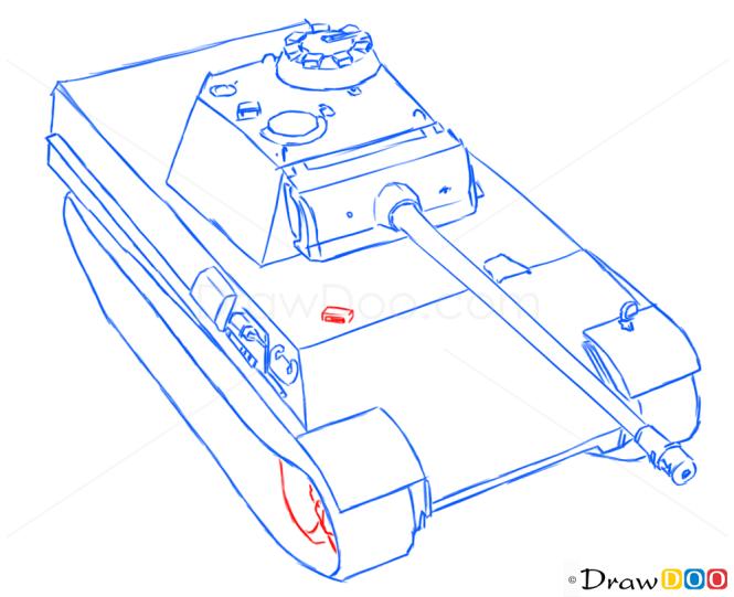 How to Draw Medium Tank, Panter, Tanks