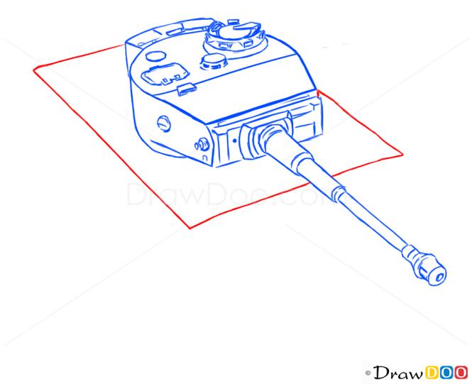 How to Draw Heavy Tank, Tiger I, Tanks