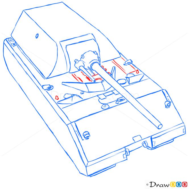 How to Draw Heavy Tank, Maus, Tanks