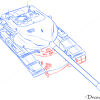How to Draw Heavy Tank, T57/58, Tanks