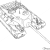 How to Draw Assault Gun, T95, Tanks