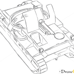 How to Draw Assault Gun, Birch Gun, Tanks