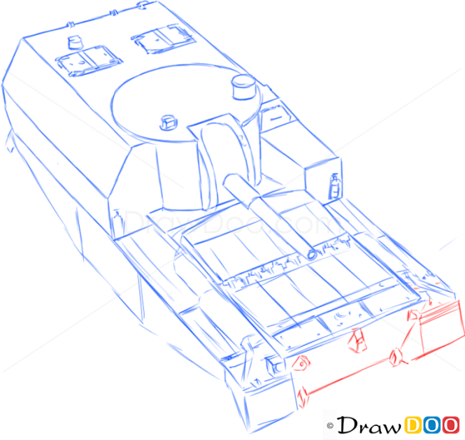 How to Draw Assault Gun, FV3805, Tanks