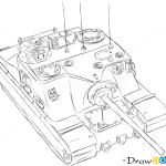 How to Draw Assault Gun, AT39 Tortoise, Tanks