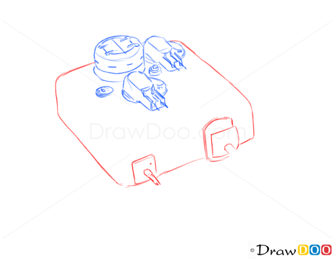 How to Draw Assault Gun, AT8, Tanks