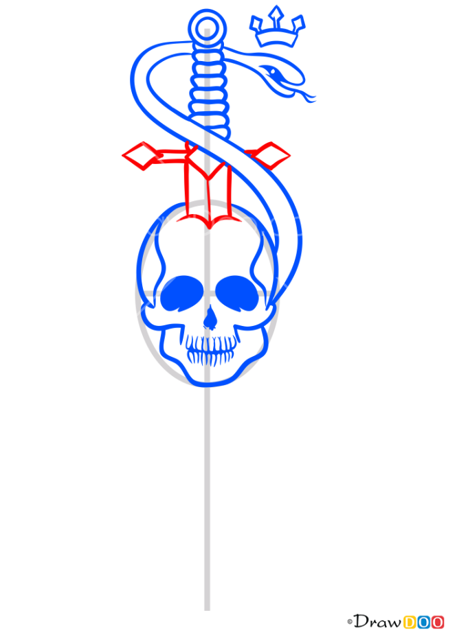 How to Draw Dagger in the Skull, Tattoo Criminal