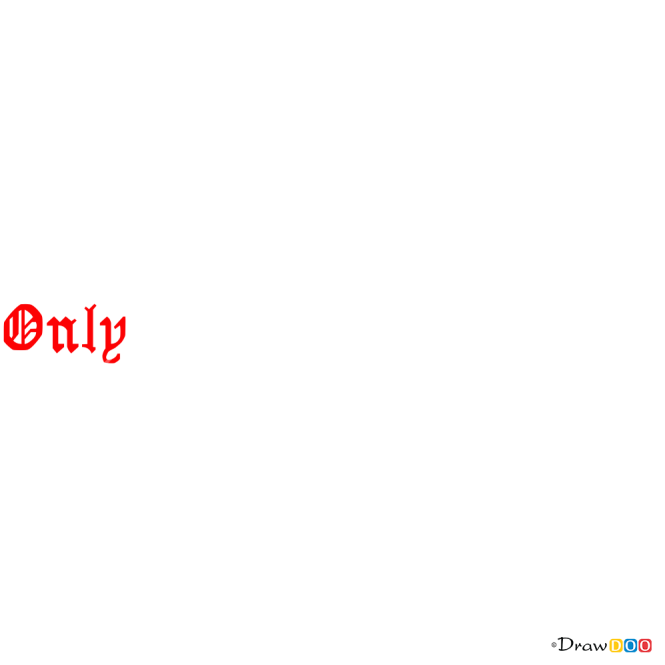 How to Draw Only God, Tattoo Fonts
