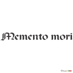 How to Draw Memento Mori, Tattoo Fonts