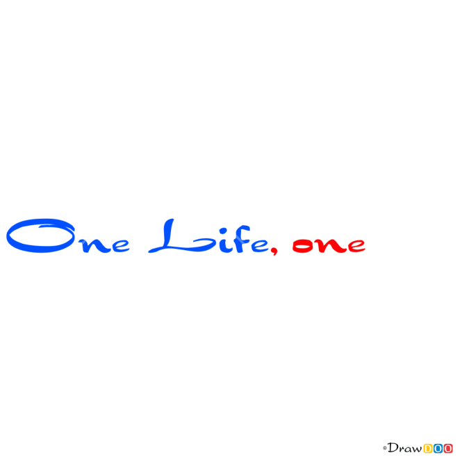 How to Draw One Life, One Love, Tattoo Fonts