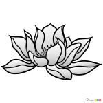 How to Draw Lotus, Tattoo Flowers