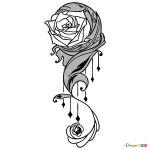 How to Draw Rose Design, Tattoo Flowers