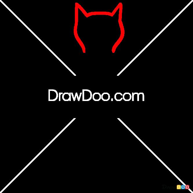 How to Draw Cat Back, Tattoo Minimalist