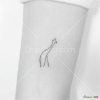 How to Draw Minimalist Giraffe, Tattoo Minimalist