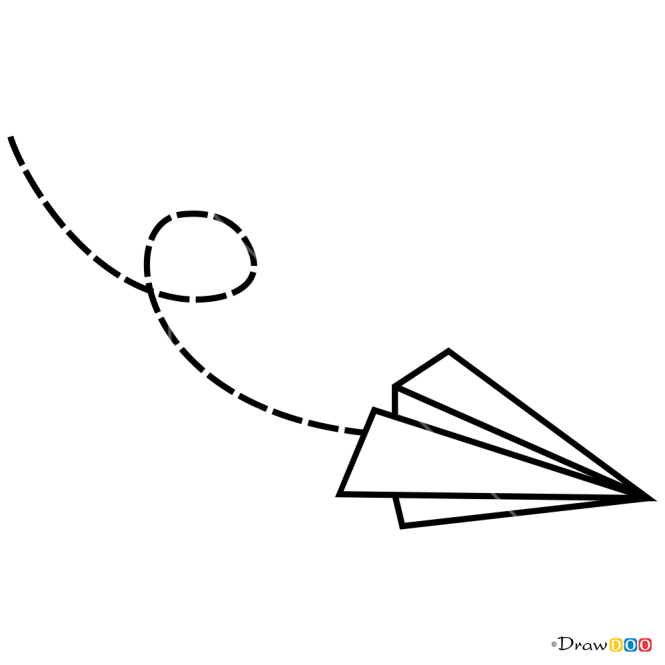 How To Draw Paper Plane Tattoo Minimalist