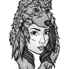 How to Draw Lady Wolf, Tattoo Wolfs
