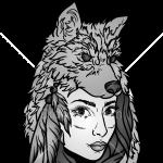 How to Draw Lady Wolf, Tattoo Wolfs