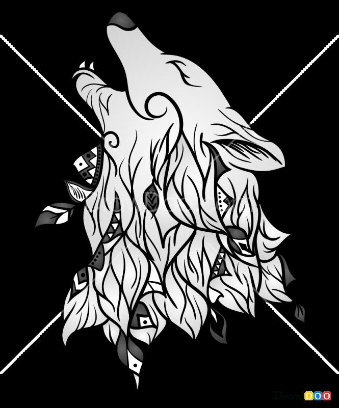 How to Draw Wolf Tattoo Design, Tattoo Wolfs