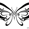 How to Draw Butterfly Easy, Tattoo Designs