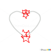 how to draw stars and heart tattoo designs