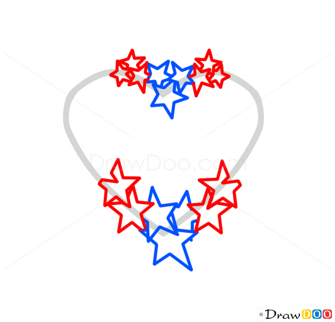 How to Draw Stars and Heart, Tattoo Designs