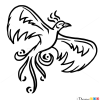 How to Draw Phoenix Bird, Tattoo Designs