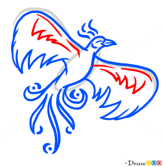 How to Draw Phoenix Bird, Tattoo Designs