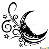 How to Draw Moon, Tattoo Designs