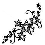 How to Draw Stars Tattoo #1, Tattoo Designs