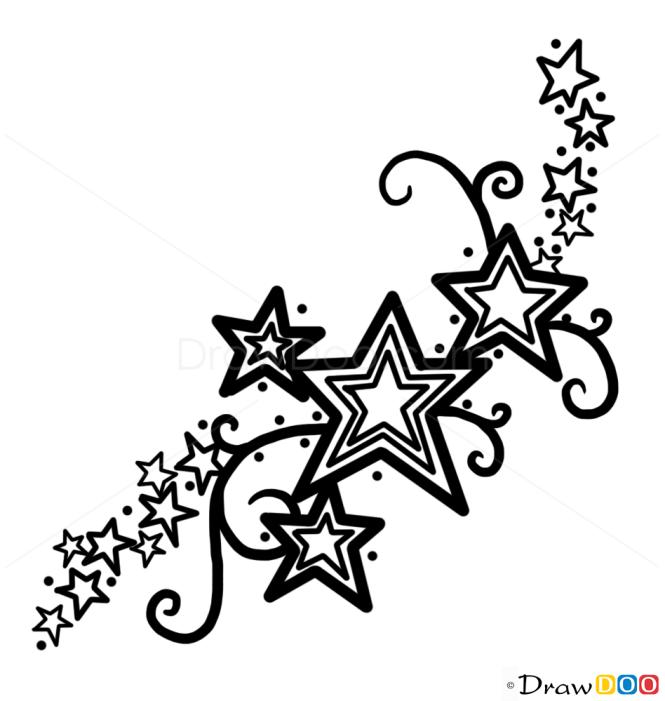 How To Draw Stars Tattoo 1 Tattoo Designs