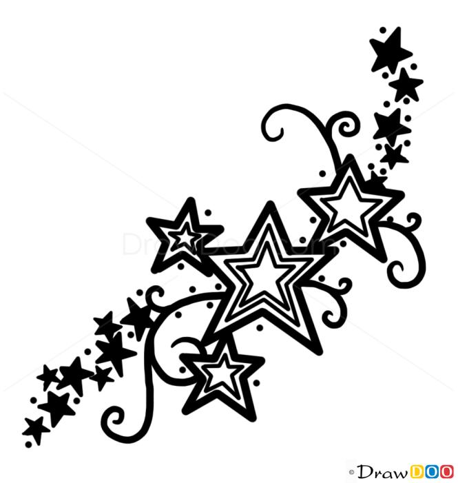 How to Draw Stars Tattoo #1, Tattoo Designs