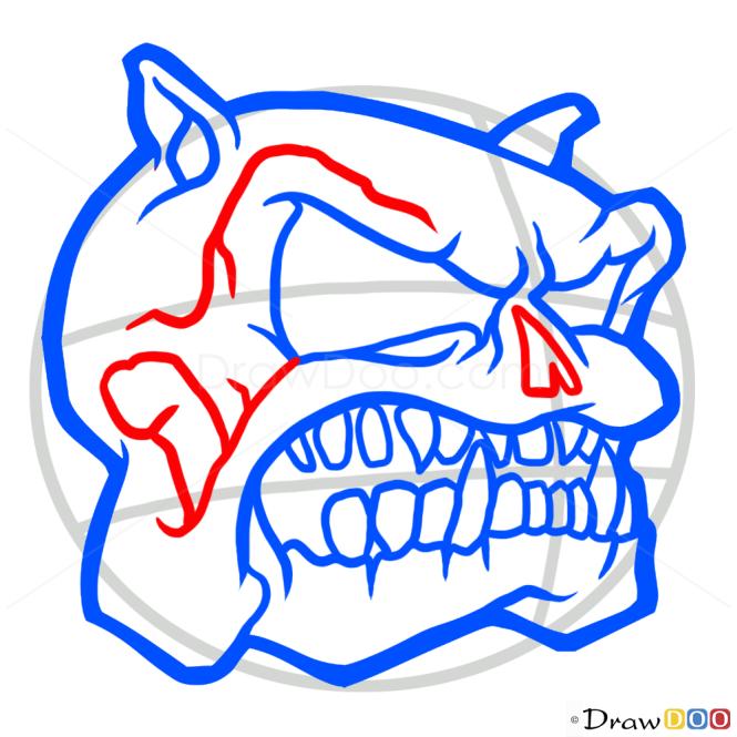 How to Draw Bulldog Skull, Tattoo Skulls