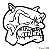 How to Draw Bulldog Skull, Tattoo Skulls