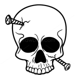 How to Draw Skull with nails, Tattoo Skulls