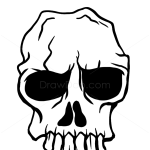 How to Draw Scary Skull, Tattoo Skulls