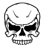 How to Draw Angry Skull, Tattoo Skulls