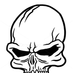 How to Draw Punk Skull, Tattoo Skulls