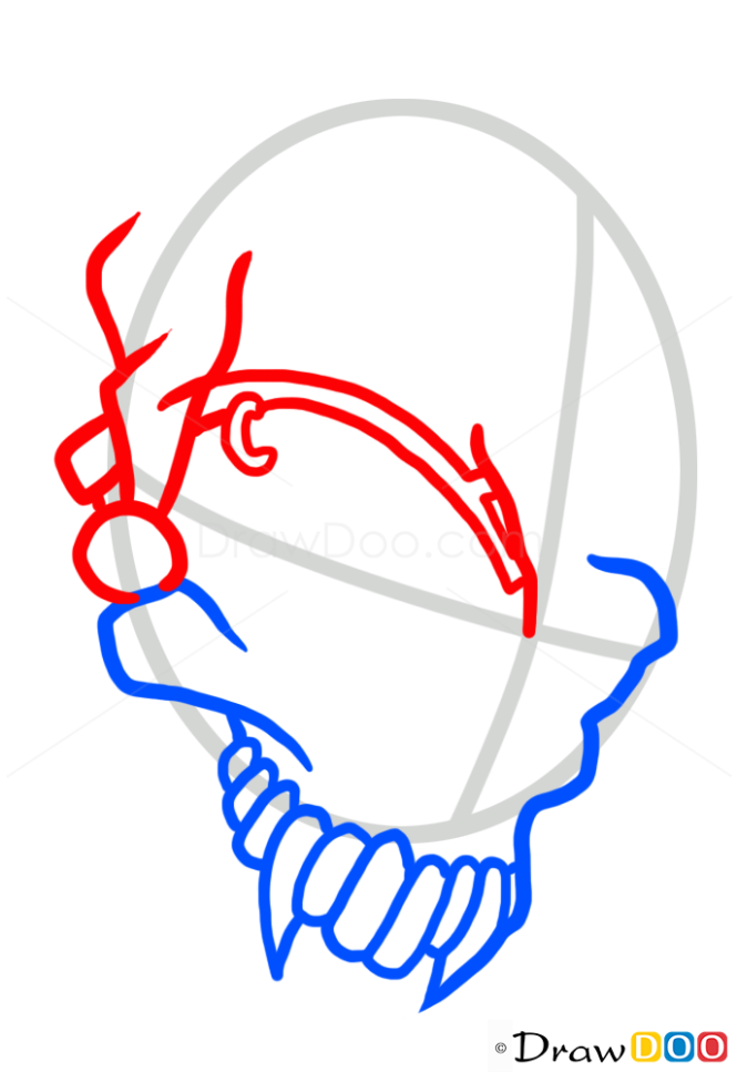 How to Draw Jester Skull, Tattoo Skulls