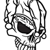 How to Draw Jester Skull, Tattoo Skulls