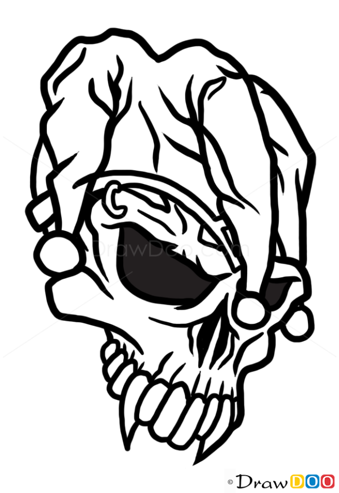 How To Draw Jester Skull Tattoo Skulls March 31