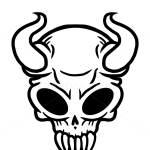 How to Draw Viking Skull, Tattoo Skulls