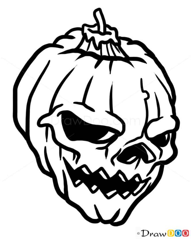 how to draw halloween skull tattoo skulls - Halloween Skulls