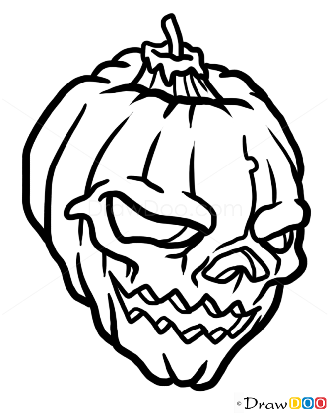 How to Draw Halloween Skull, Tattoo Skulls