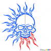 How to Draw Sun Skull, Tattoo Skulls