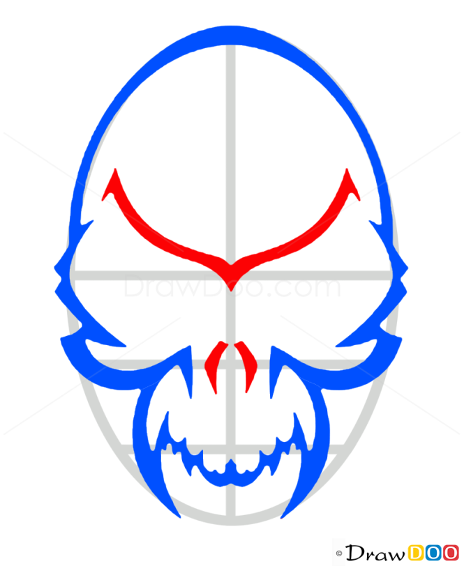 How to Draw Vampire Skull, Tattoo Skulls