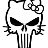 How to Draw Hello Kitty Skull, Tattoo Skulls