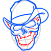 How to Draw Cowboy Skull, Tattoo Skulls