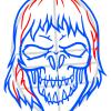 How to Draw Ghost Skull, Tattoo Skulls